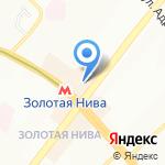 Восход на карте Новосибирска