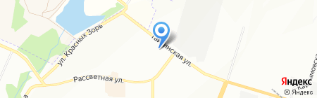 Линия Красоты на карте Новосибирска