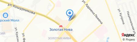 Фотоград на карте Новосибирска