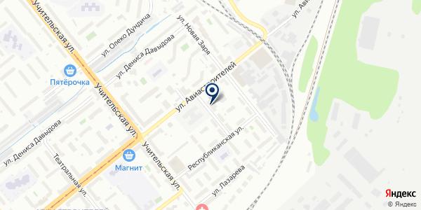 Вяз на карте Новосибирске