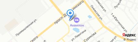 Милан на карте Новосибирска