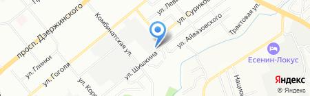 Пиропласт на карте Новосибирска