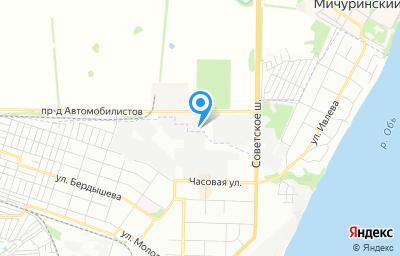 Местоположение на карте пункта техосмотра по адресу Новосибирская обл, Новосибирский р-н, проезд Автомобилистов, д 1