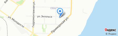 Тарный завод на карте Новосибирска