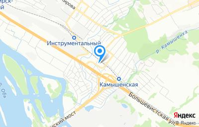 Местоположение на карте пункта техосмотра по адресу г Новосибирск, ул Выборная, д 26