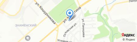 Palantinnsk на карте Новосибирска