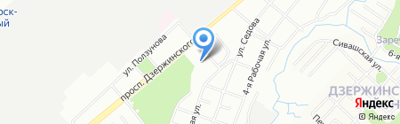 Детский сад №493 на карте Новосибирска
