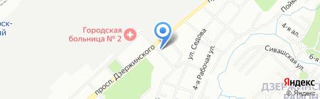 Сахил на карте Новосибирска