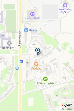 СТРОИТЕЛЬНАЯ ФИРМА РОСТ-1 на карте Краснообска