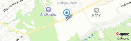 Двери в кубе на карте Новосибирска