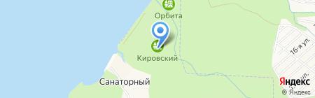 Кировский на карте Бердска