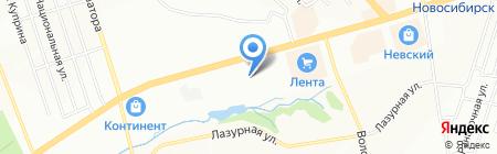 Авто Вираж на карте Новосибирска