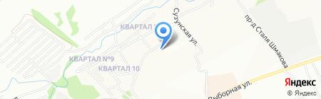 Холидей Классик на карте Новосибирска