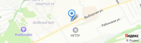 Бригантина на карте Новосибирска