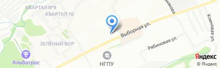 Студия загара на карте Новосибирска