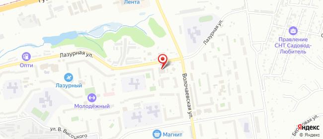 Карта расположения пункта доставки Новосибирск Лазурная в городе Новосибирск