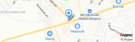 Mexasib на карте Новосибирска