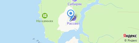 Рассвет на карте Бердска