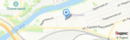 Гидролок Сибирь на карте Новосибирска