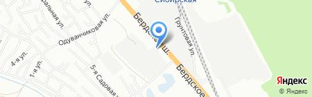 Магазин отечественных грузовых автозапчастей на карте Новосибирска