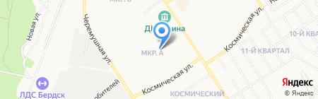 Средняя общеобразовательная школа №5 на карте Бердска
