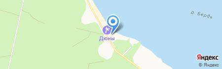 Бердский поисково-спасательный отряд МЧС России на карте Бердска
