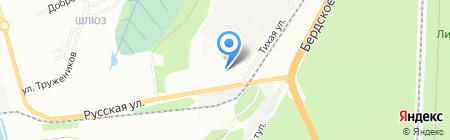НовоТрансфер на карте Новосибирска
