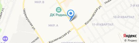 Магазин цветов на ул. Микрорайон на карте Бердска