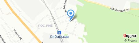 Аптека на Инском на карте Новосибирска