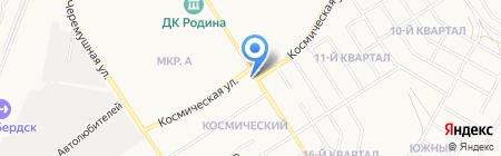 Автостоянка на Первомайской на карте Бердска