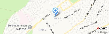 АПК на карте Бердска