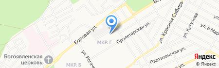 Сибирские коммунальные системы на карте Бердска