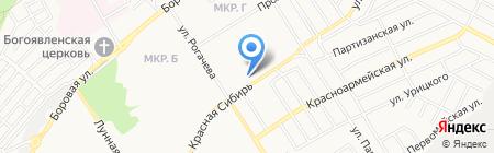 Книжно-канцелярский магазин на карте Бердска