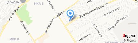 Гагарина на карте Бердска