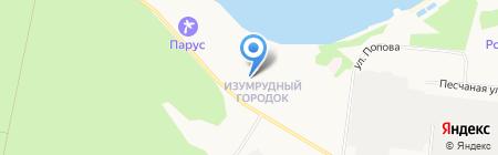 Изумрудный на карте Бердска