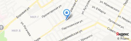 Шиномонтажная мастерская на Красной Сибири на карте Бердска