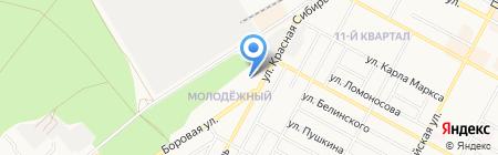 Авеню на карте Бердска