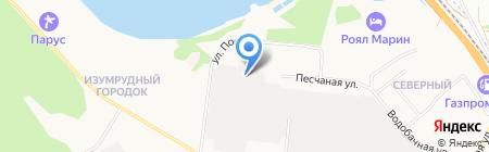 Баркомплект на карте Бердска