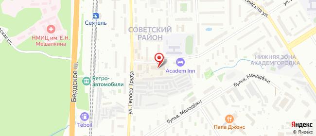 Карта расположения пункта доставки Новосибирск Иванова в городе Новосибирск