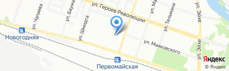 Волшебница на карте Новосибирска