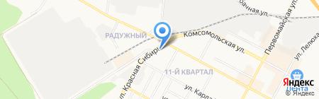 Новосибирск на карте Бердска