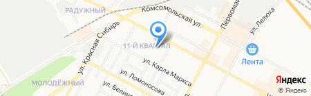 Продуктовый магазин на ул. Ленина на карте Бердска
