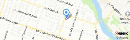 Инстройпроект на карте Новосибирска