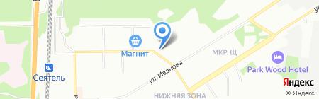 Елена на карте Новосибирска