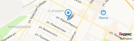Пивная лагуна на карте Бердска