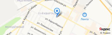 Детский сад №25 Рябинка на карте Бердска