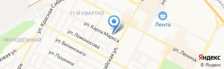Кларисси на карте Бердска