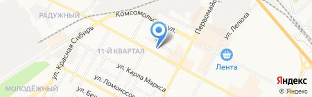 Иваново на карте Бердска
