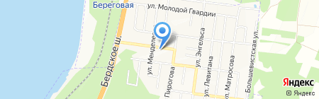 Бердская центральная городская больница на карте Бердска