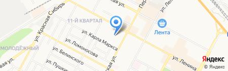 Ирдис на карте Бердска